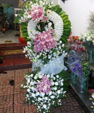 hoa chia buồn 57