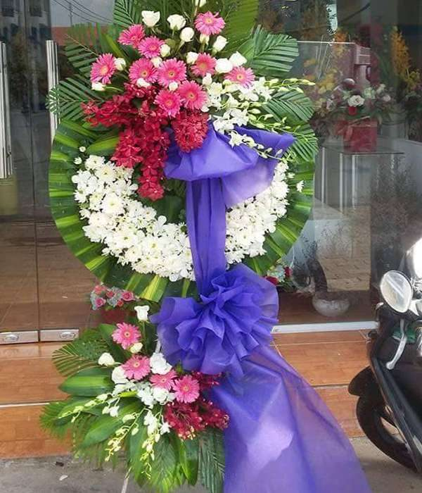 hoa chia buồn hcb 124