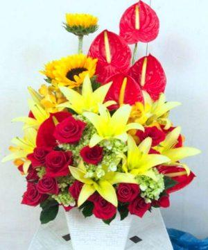 giỏ hoa tươi 35