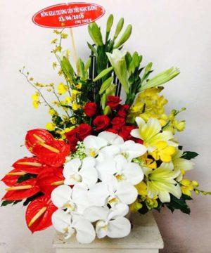 giỏ hoa tươi 36