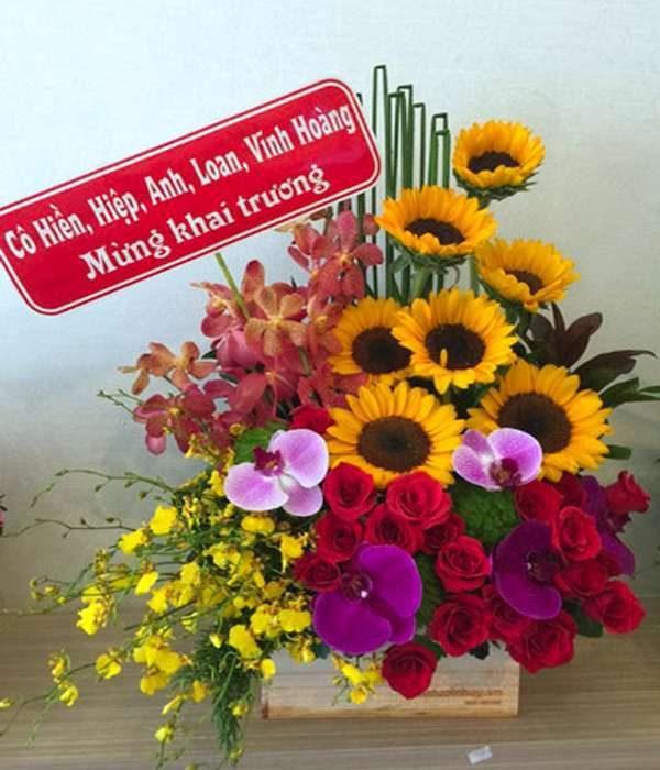 giỏ hoa tươi 37