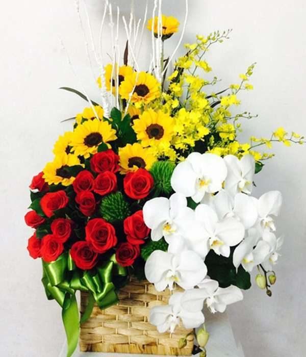 giỏ hoa tươi 38