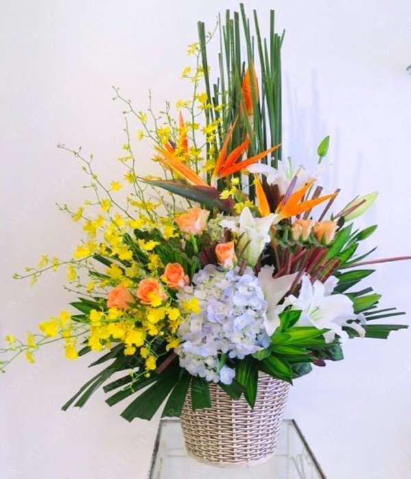 giỏ hoa tươi 39