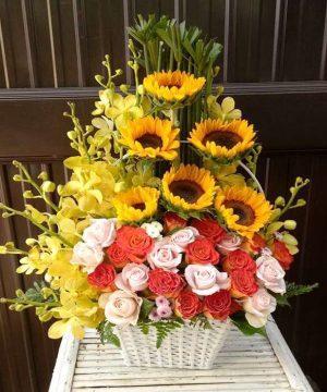 giỏ hoa tươi ght 43