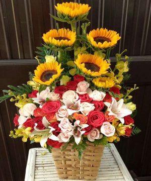 giỏ hoa tươi ght 46