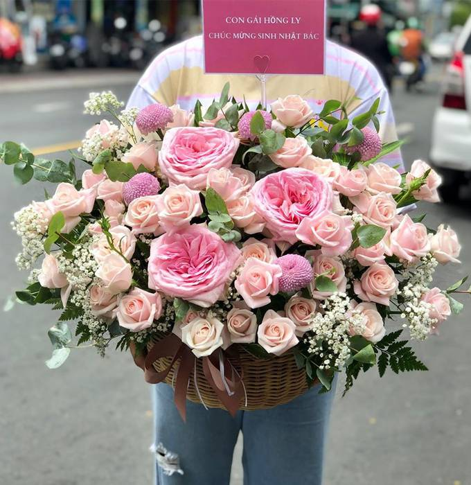 giỏ hoa tươi huyện gia lâm