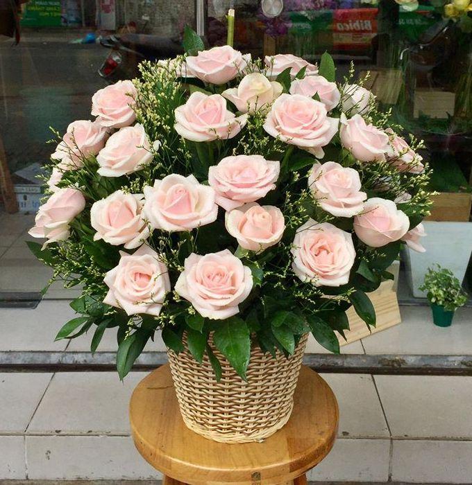 giỏ hoa tươi tại huyện ba vì