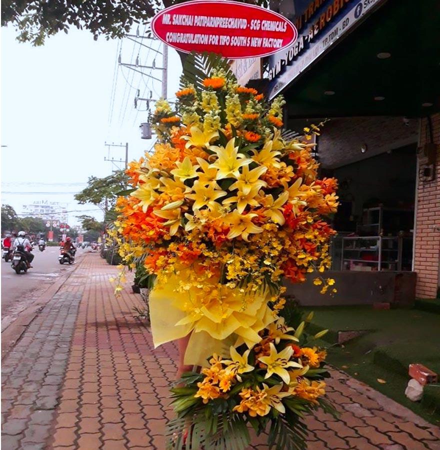 hoa khai trương đẹp tại shop hoa tươi nguyễn trãi