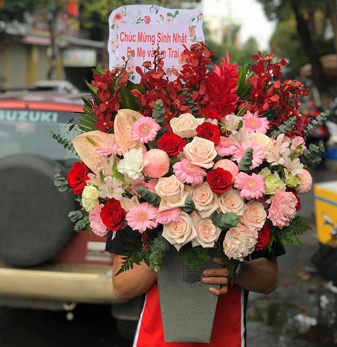 hoa sinh nhật tại huyện hoài đức