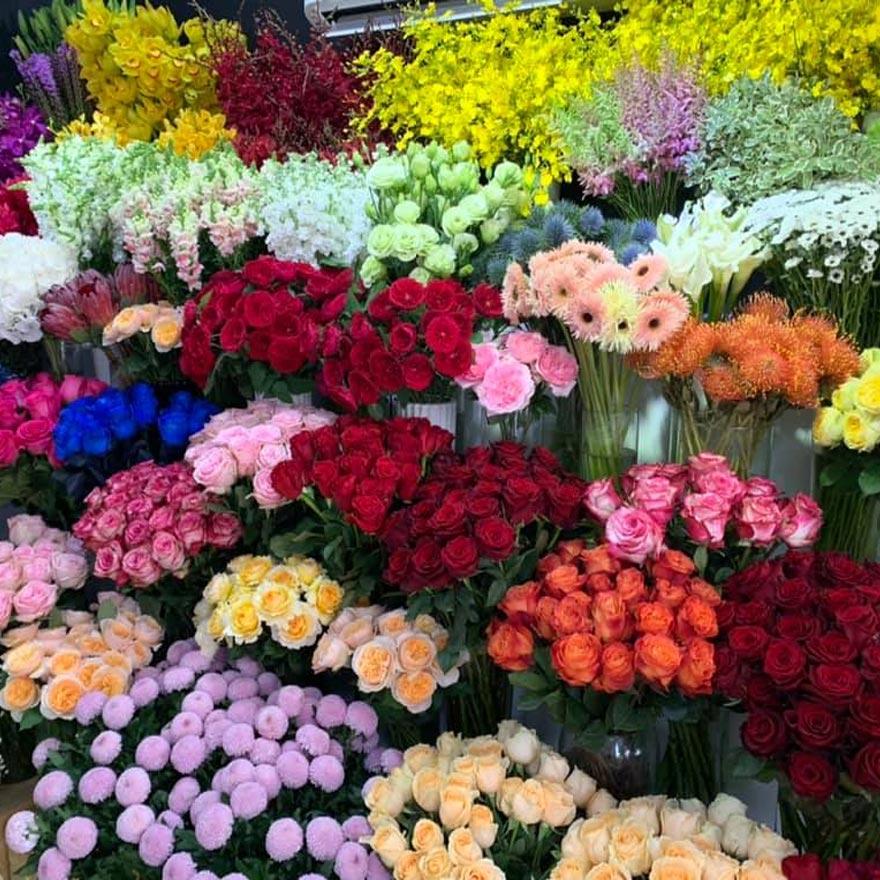nhiều loại hoa tươi đẹp tại shop hoa tươi nguyễn thị thập