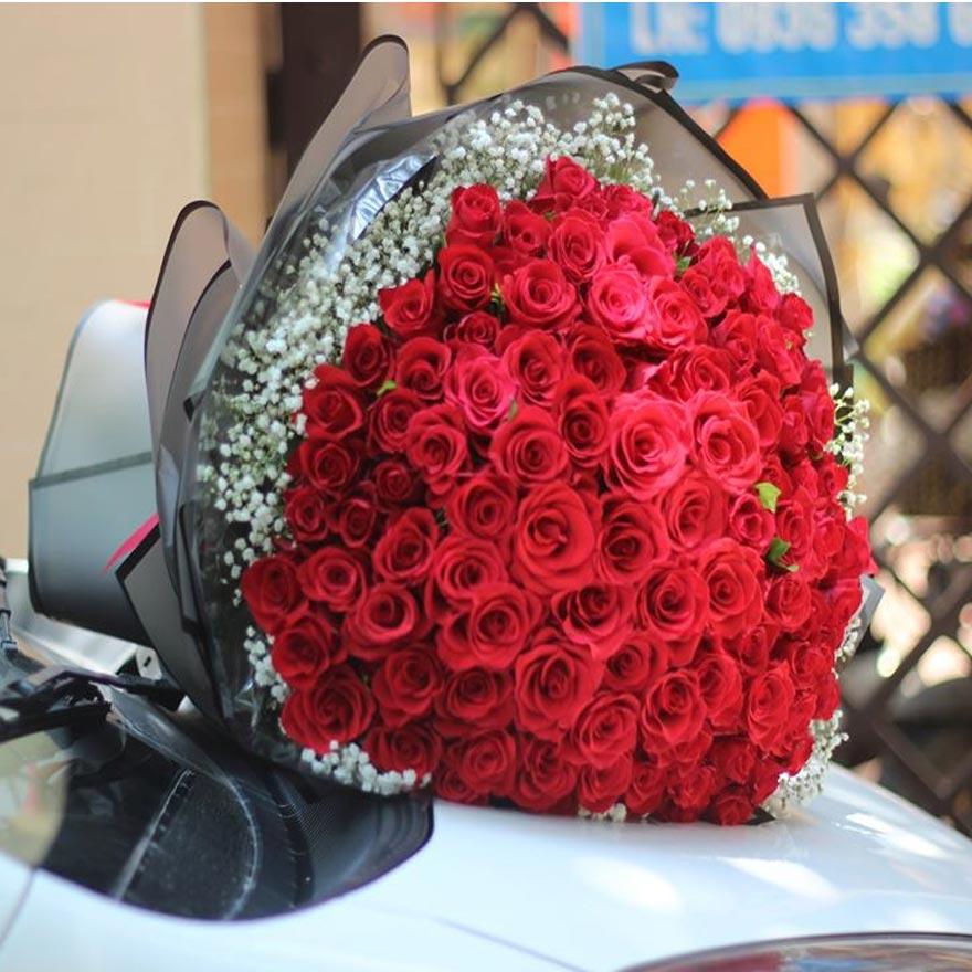 bó hoa hồng đỏ đẹp tại huyện hóc môn