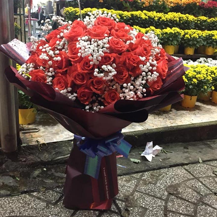 bó hoa hồng đỏ đẹp tại quận 11