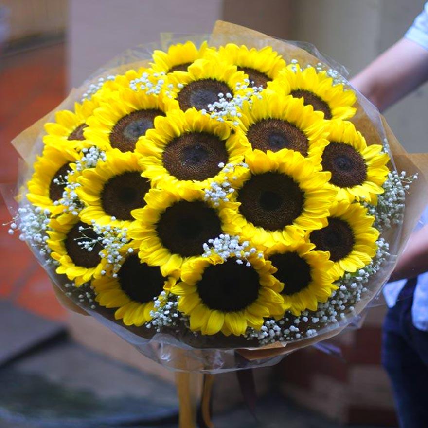 bó hoa hướng dương đẹp tại huyện hóc môn
