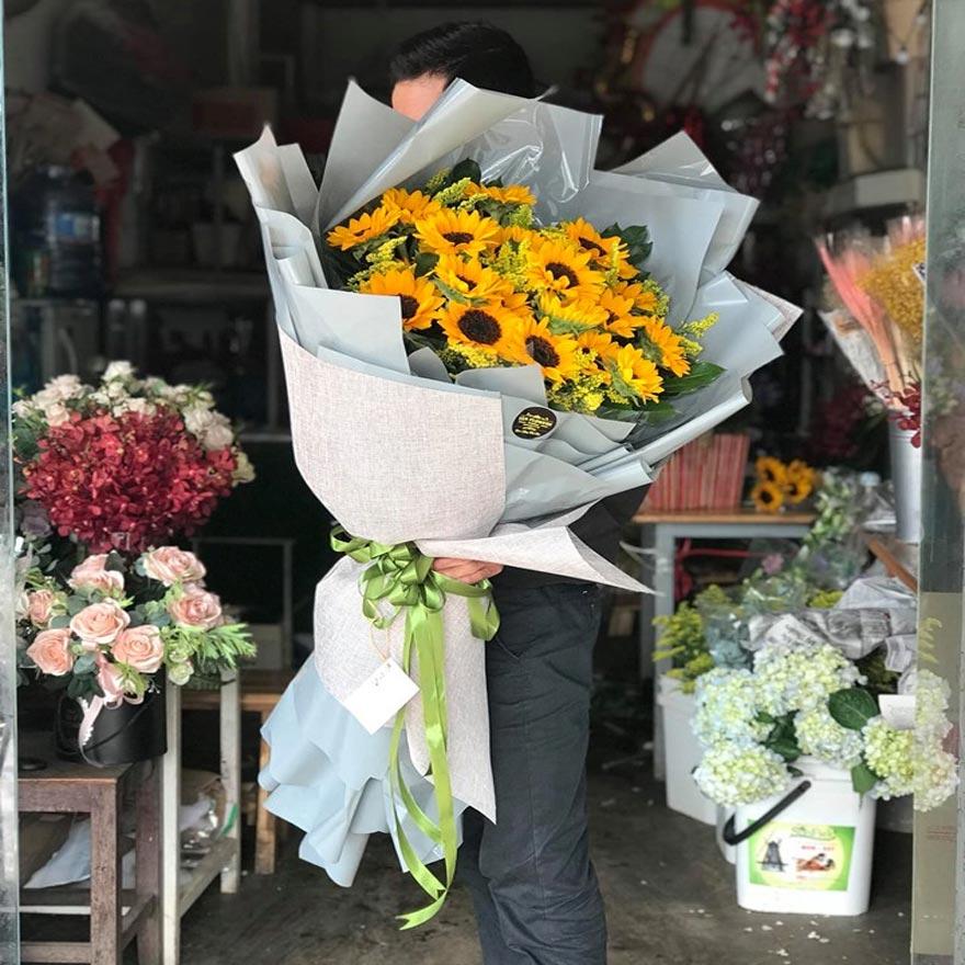 bó hoa hướng dương đẹp tại shop hoa tươi quận thủ đức