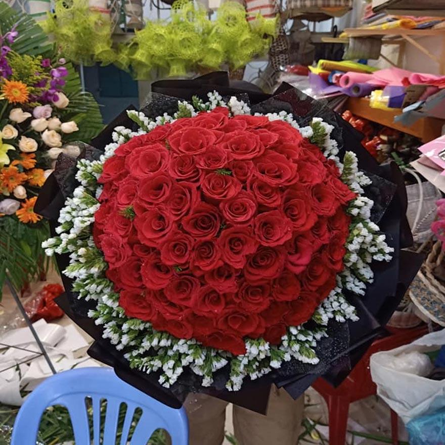 bos hoa tặng người yêu đẹp tại quận 5