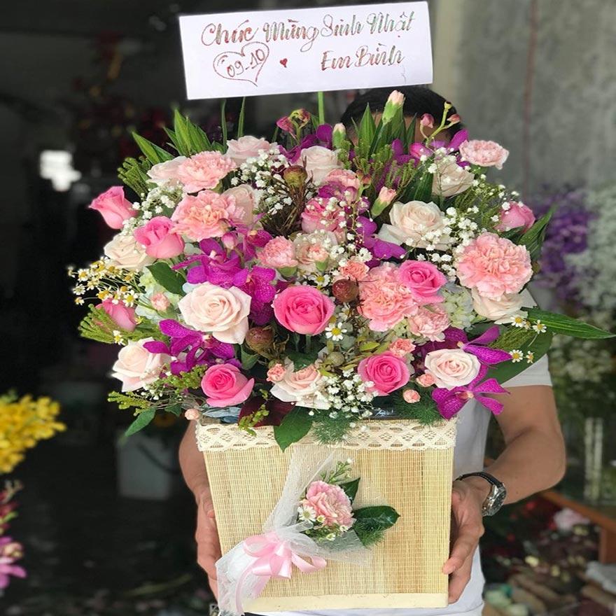 giỏ hoa tươi đẹp tại quận thủ đức