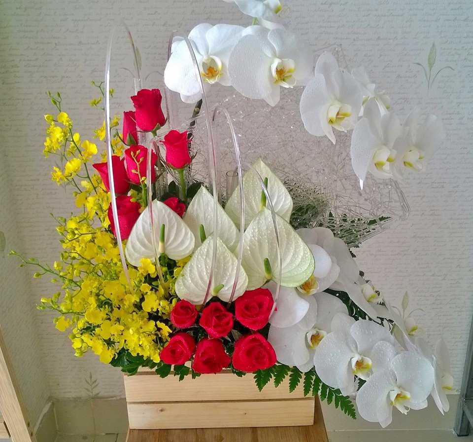 lẵng hoa sinh nhật đẹp nhất 4