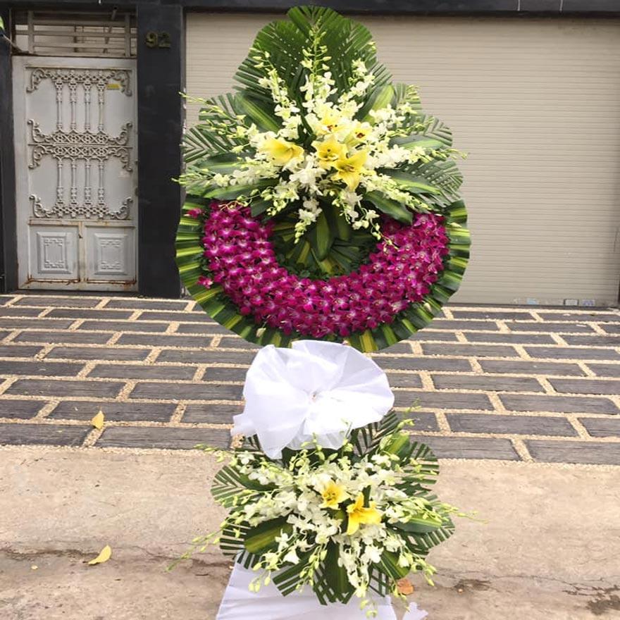 vòng hoa tang lễ đẹp tại quận tân bình