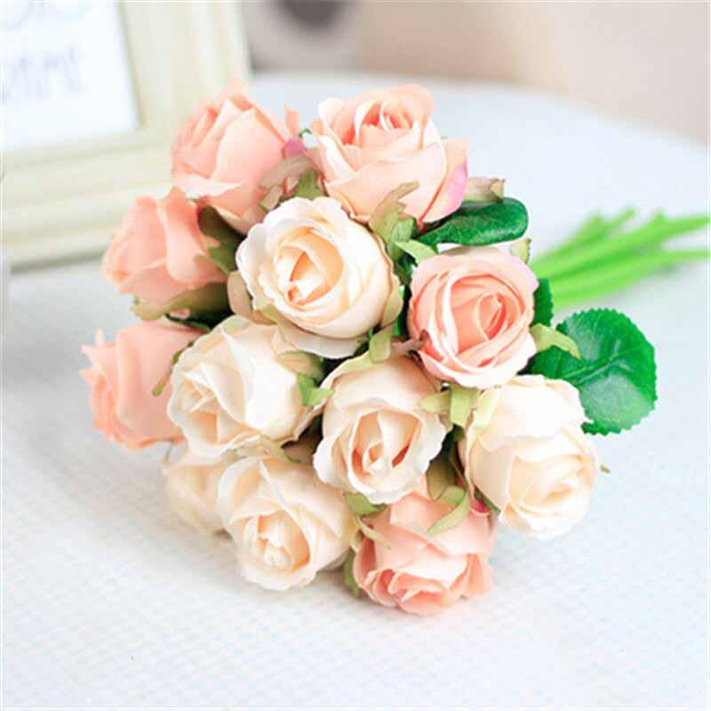 hoa cưới đơn màu
