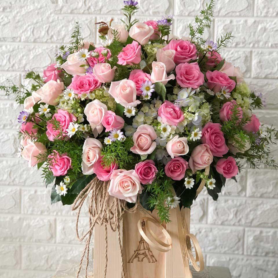 Hoa hồng mừng thọ