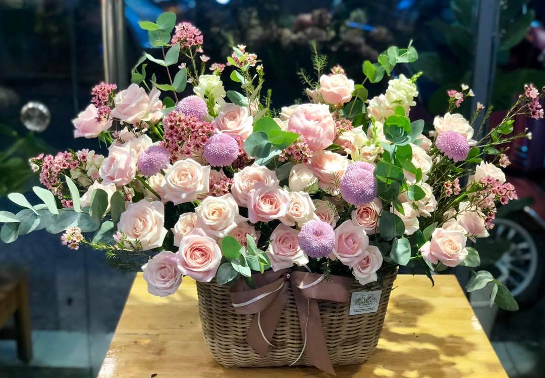 Giỏ hoa tươi đẹp tặng sinh nhật